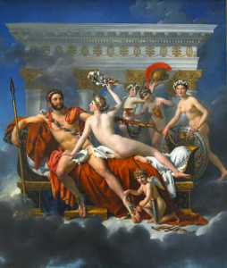 After DAVID Jacques-Louis MARS, VENUS AND CUPID