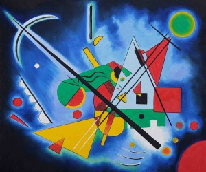 Blue Painting by Wassily Kandinsky OSA468 copy