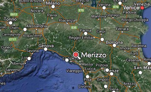 Merizzo map